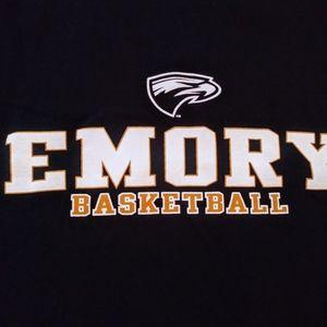 🌞3/$18🌞sz L Emory Basketball navy blue t-shirt